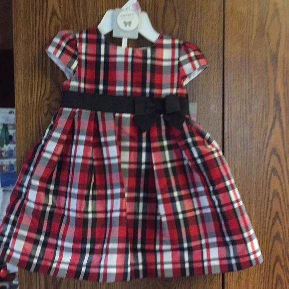 CARTER/'S GIRLS SUN  DRESS 2 PIECE GREEN//WHITE PLAIDS SIZES 3,6,9,12 MONTHS NWT